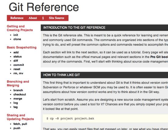 Git Reference Site - The GitHub Blog