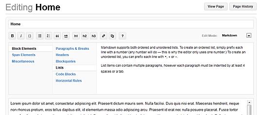 wiki editor