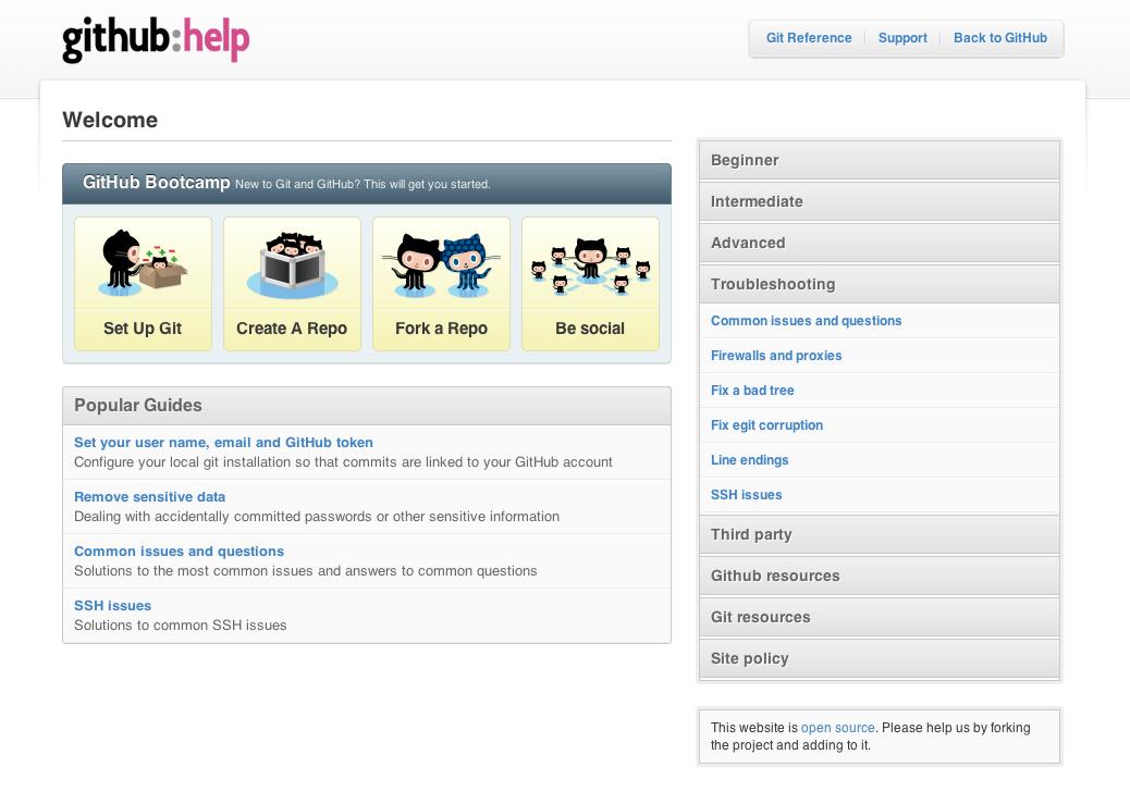 GitHub:Help