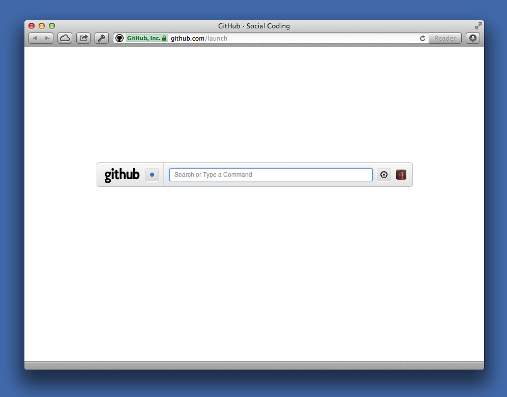 GitHub Launch Page