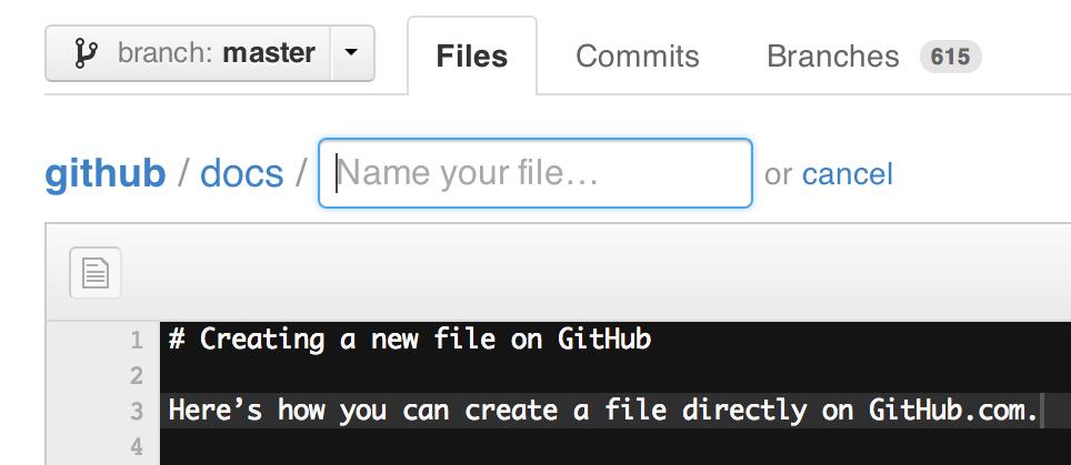 New file editor