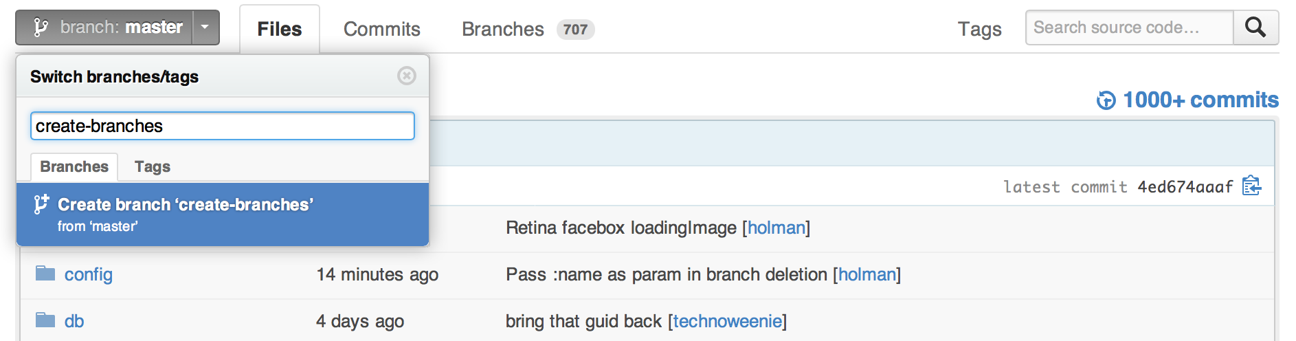 create a new branch git