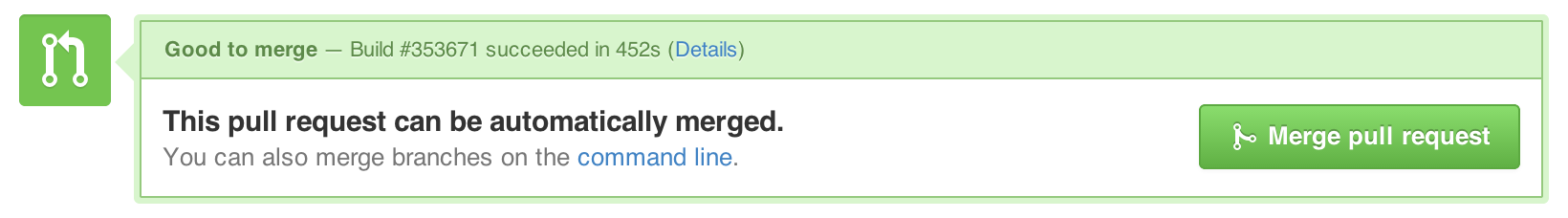 New merge button