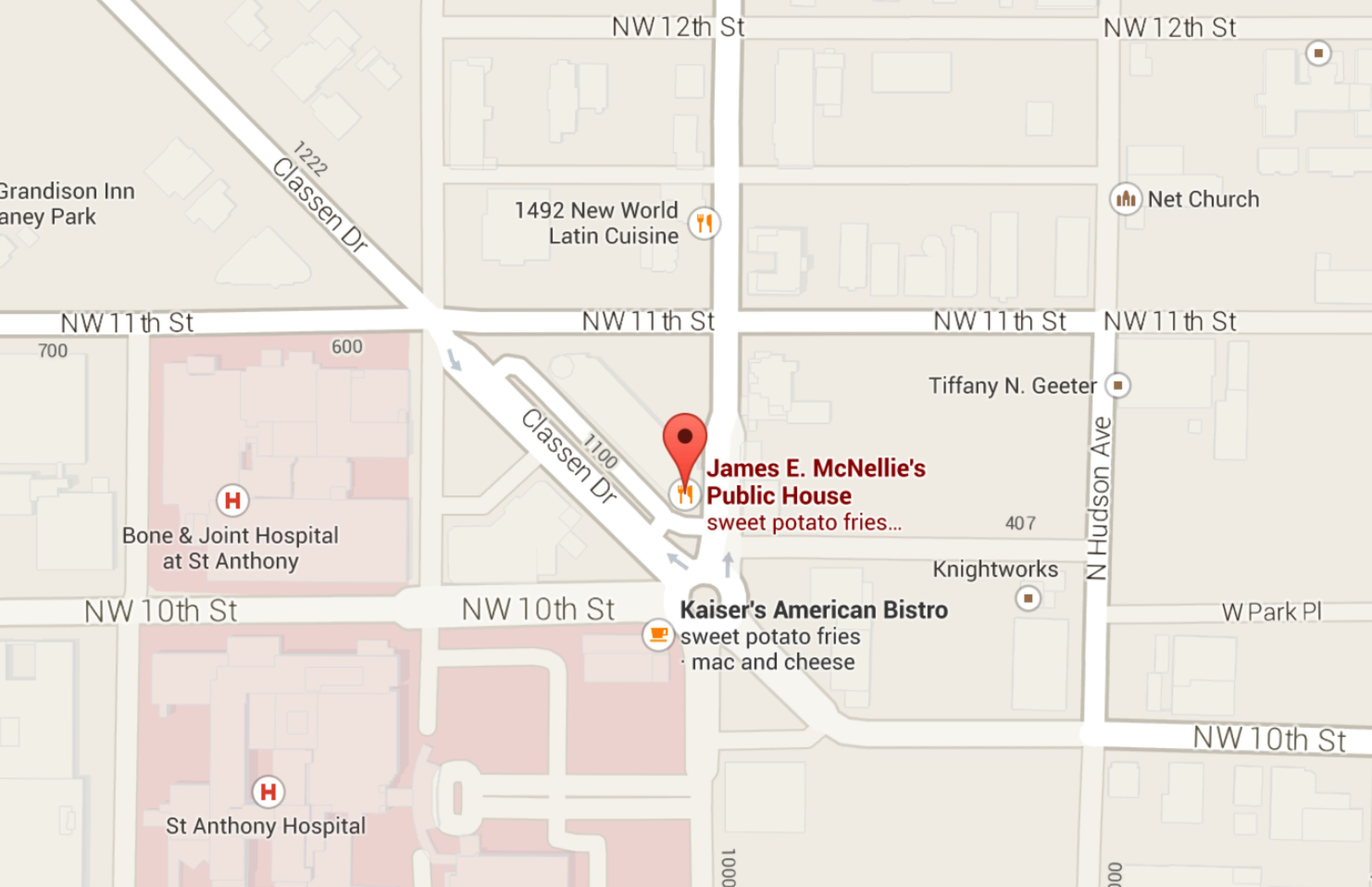 mcnellies okc - google maps