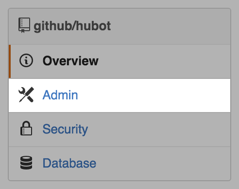 Admin link