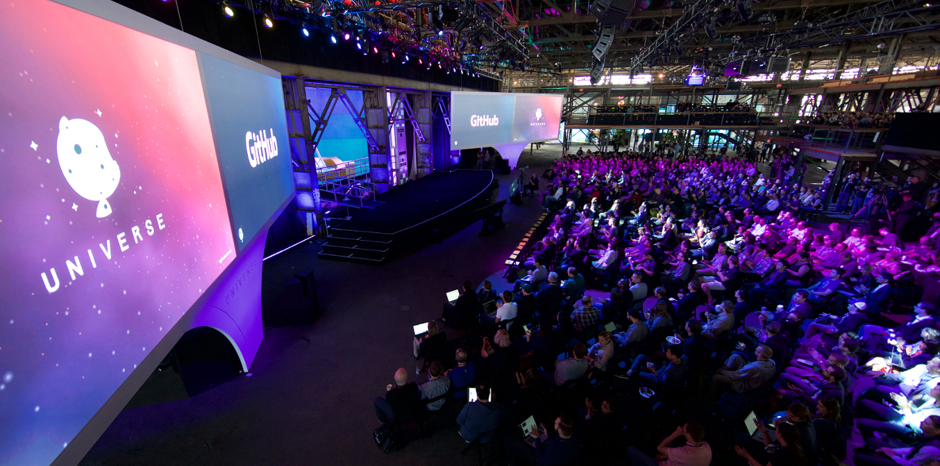 Audience at GitHub Universe