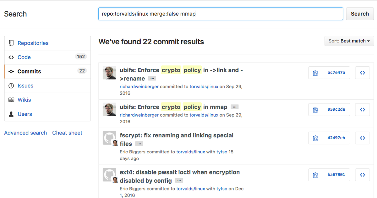 Search commit messages - The GitHub Blog