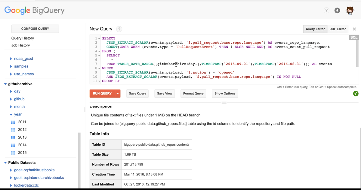 GitHub data, ready for you to explore with BigQuery - The GitHub Blog