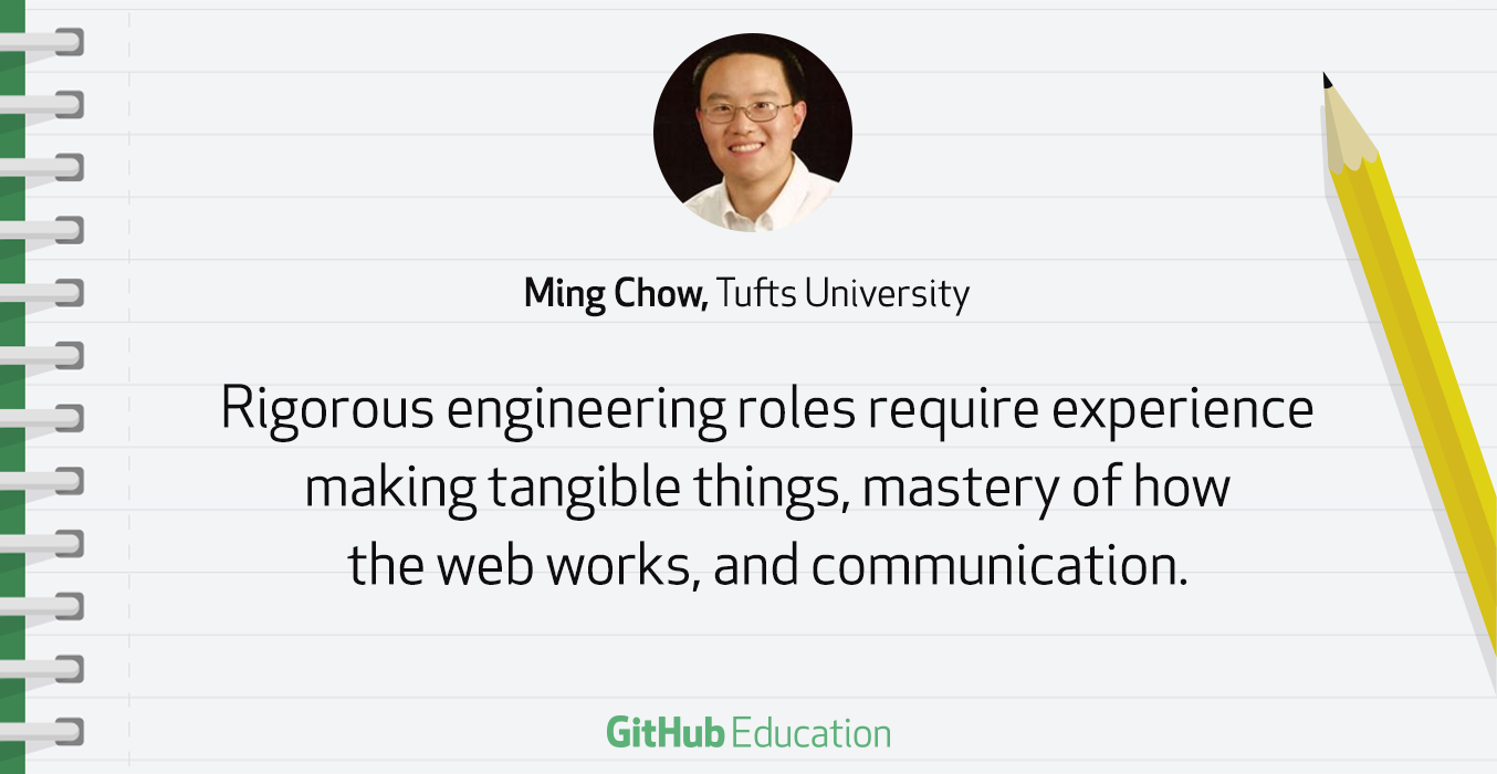Ming Chow of Tufts gives advice on teaching Git and GitHub