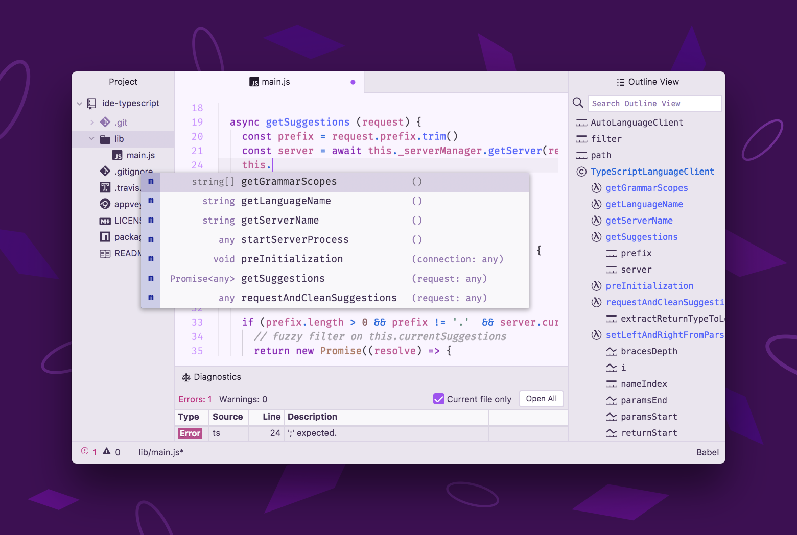 A look at Atom-IDE