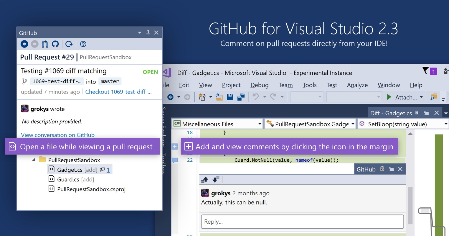 Inline comments in GitHub for Visual Studio - The GitHub Blog