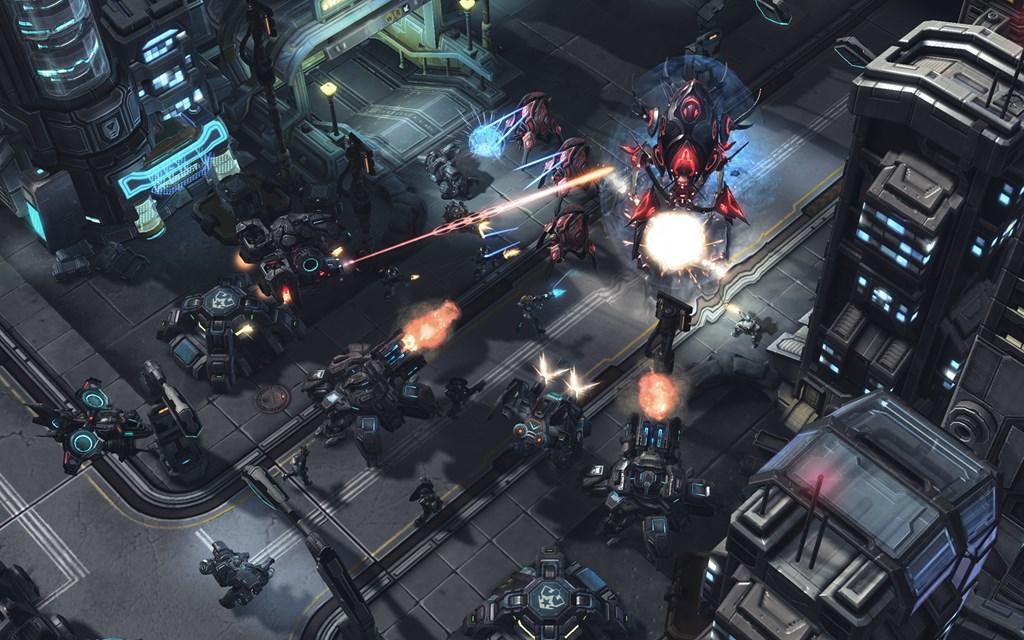 Screenshot of Starcraft II gameplay