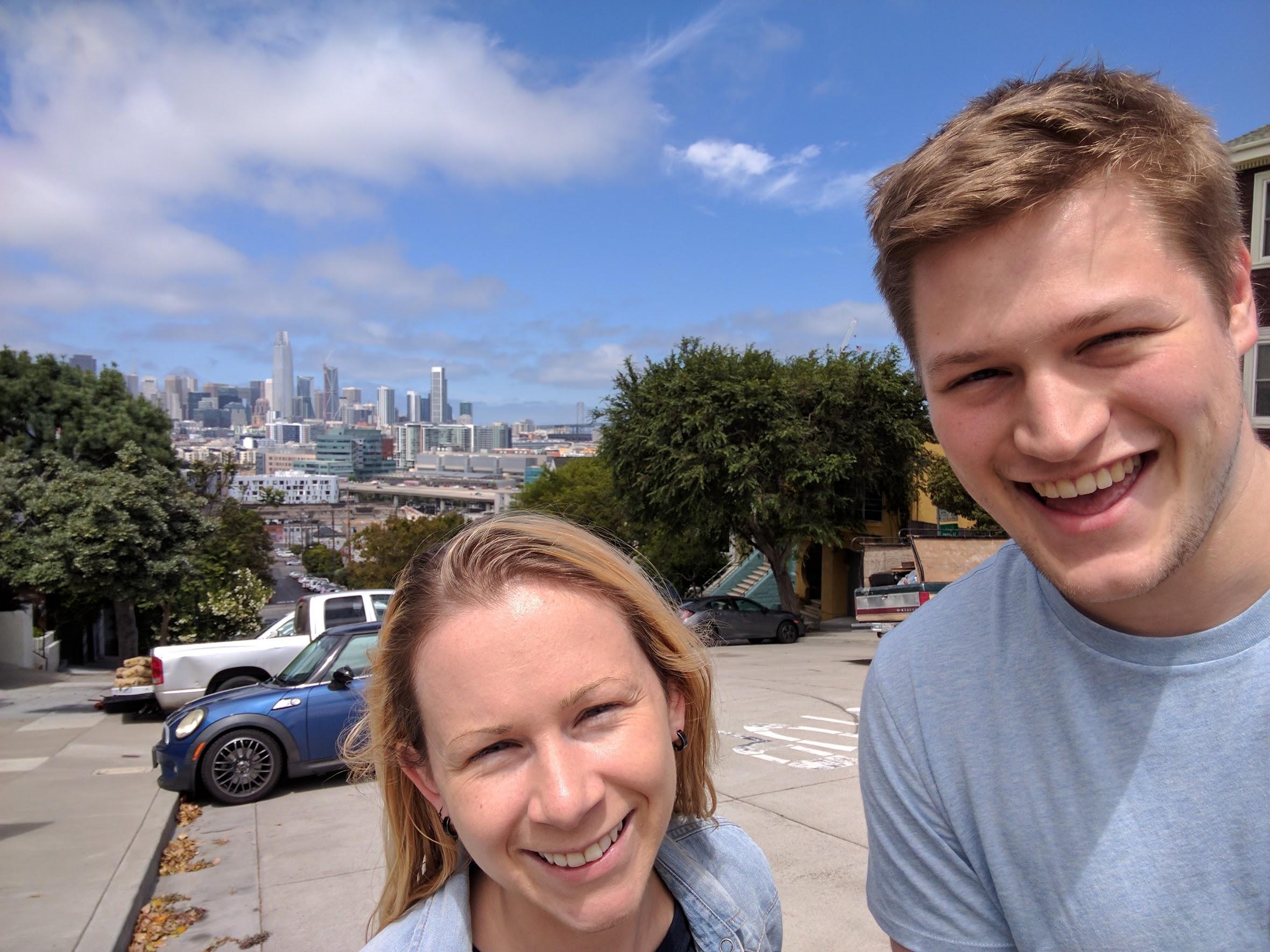 Wil and Kim intern in San Francisco