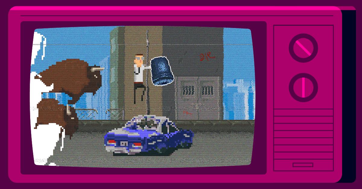 Screenshot of Throwback game