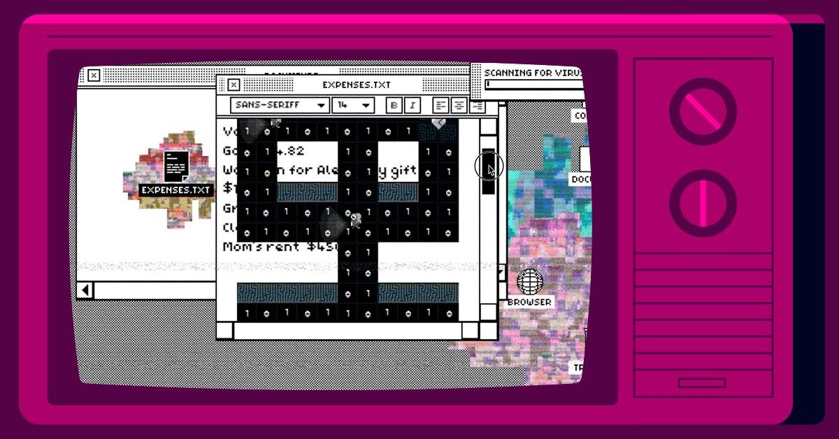 Screenshot of Glitcher game