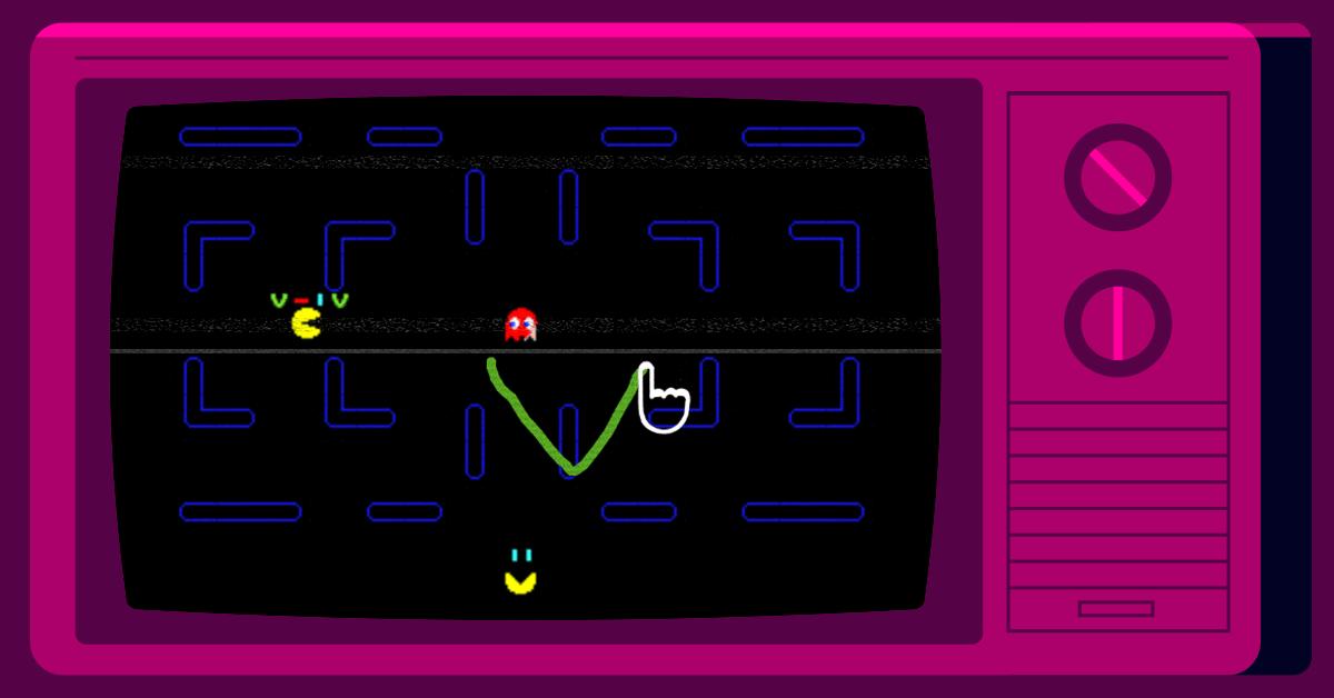 Screenshot of AntiPacMan game
