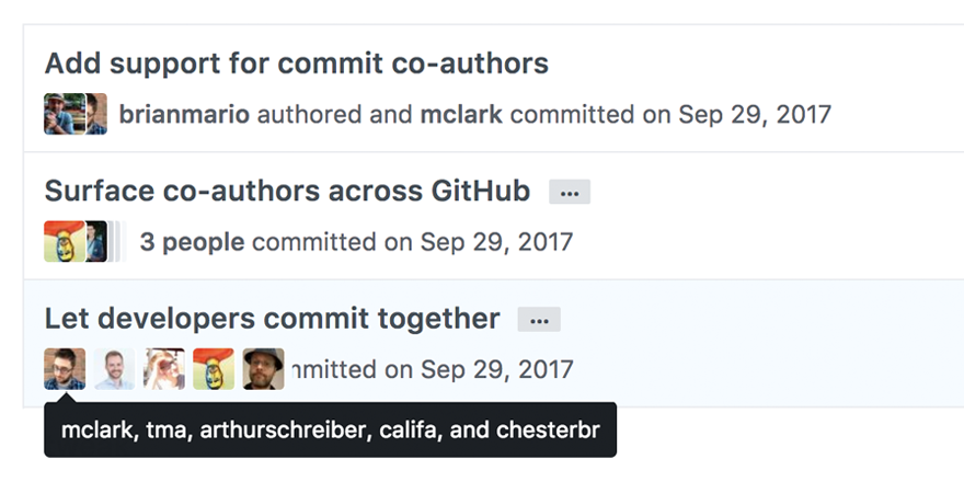 Added support for multiple commit authors