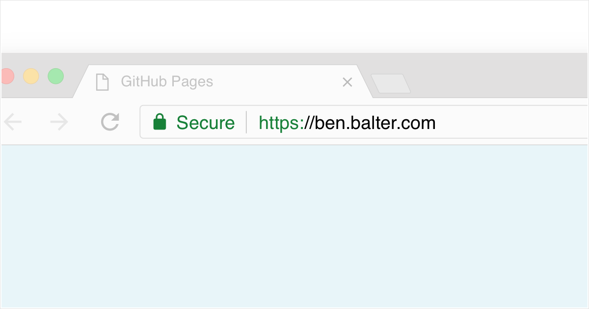 Secure connection to ben.balter.com