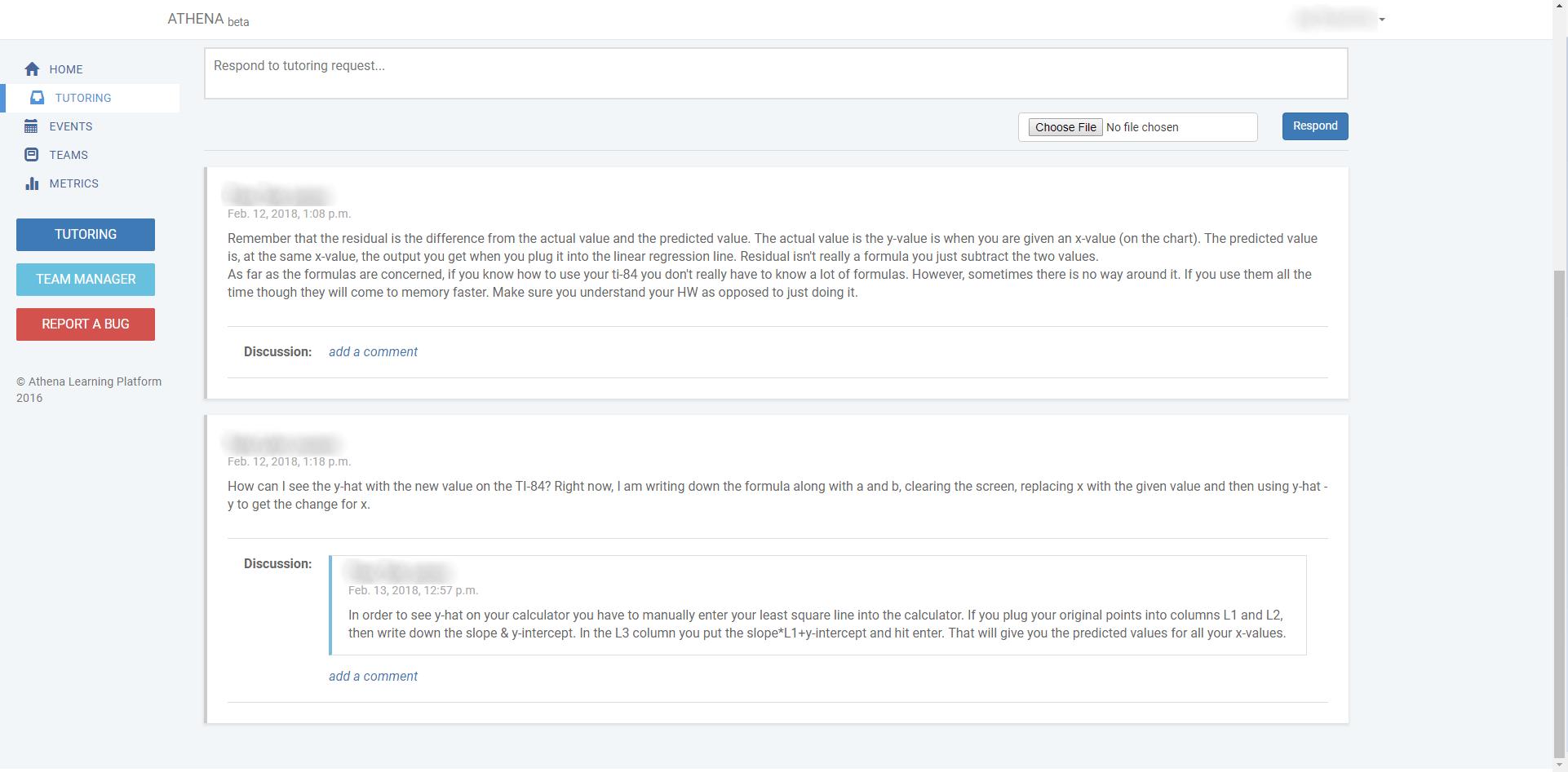 Athena tutor feedback; http://www.athenaoltc.com/