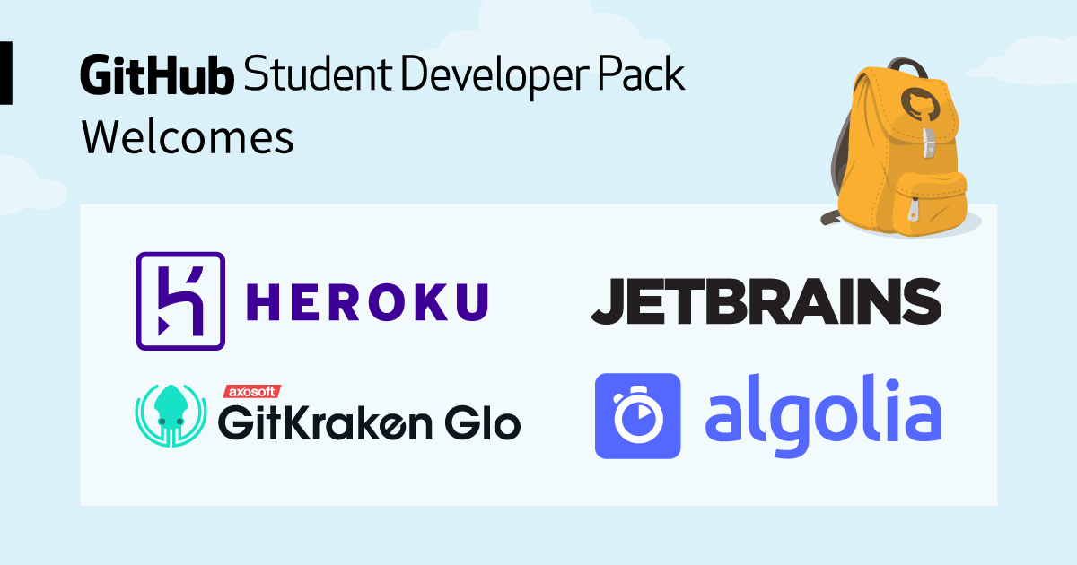 Level up your school projects with Algolia, GitKraken Glo