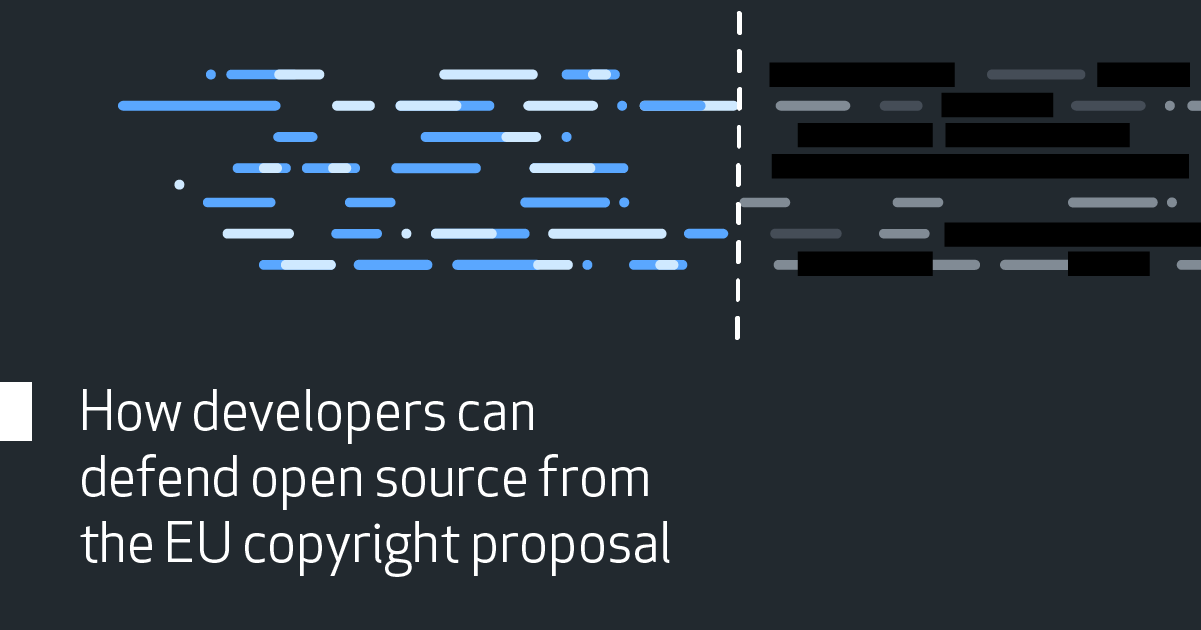 How developers can defend open source from the EU copyright