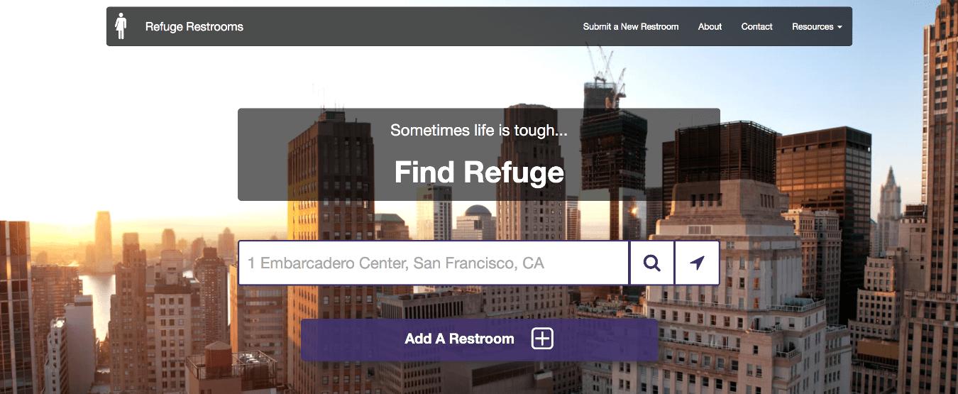 Refuge restrooms website