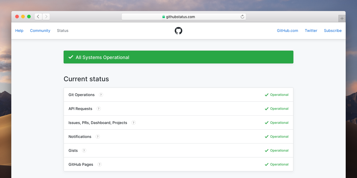 The new GitHub Status Site