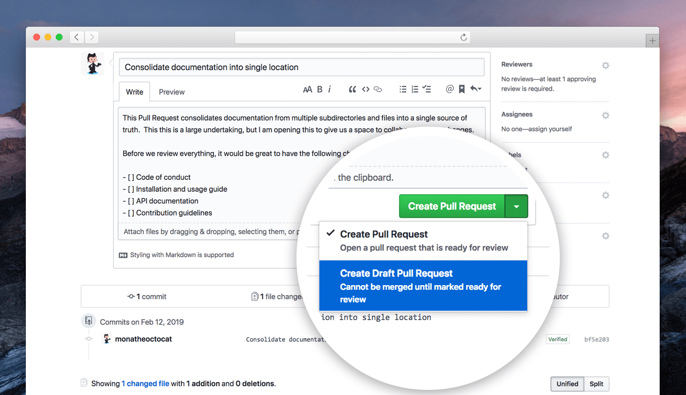 Introducing draft pull requests - The GitHub Blog