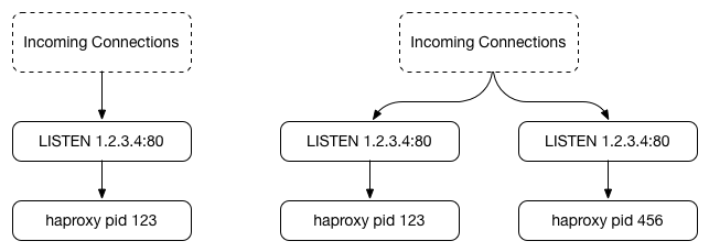 Forking a second HAProxy by default