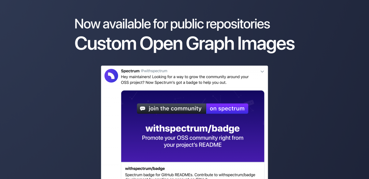 Custom Open Graph Images for repositories