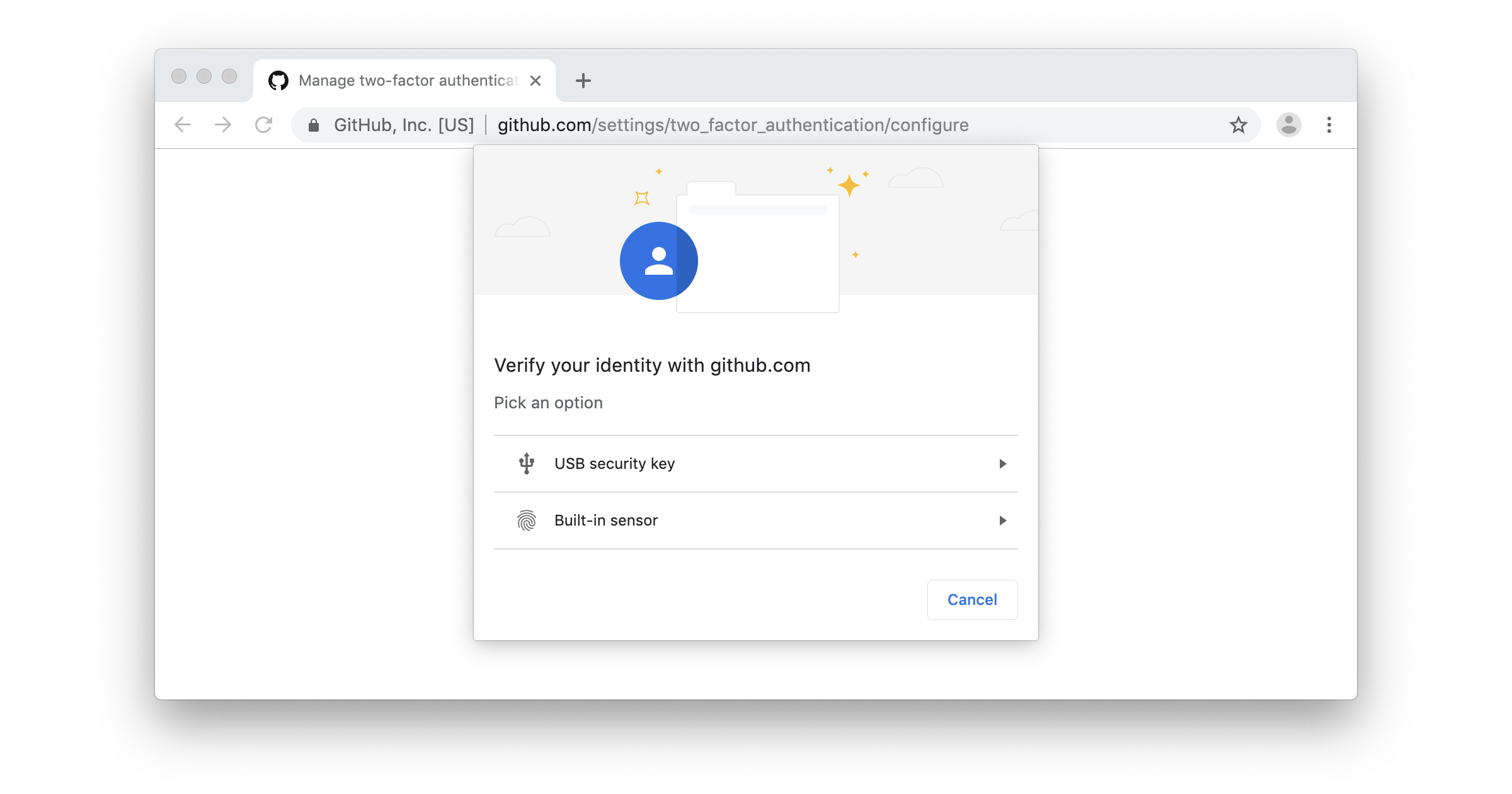 GitHub supports Web Authentication (WebAuthn) for security