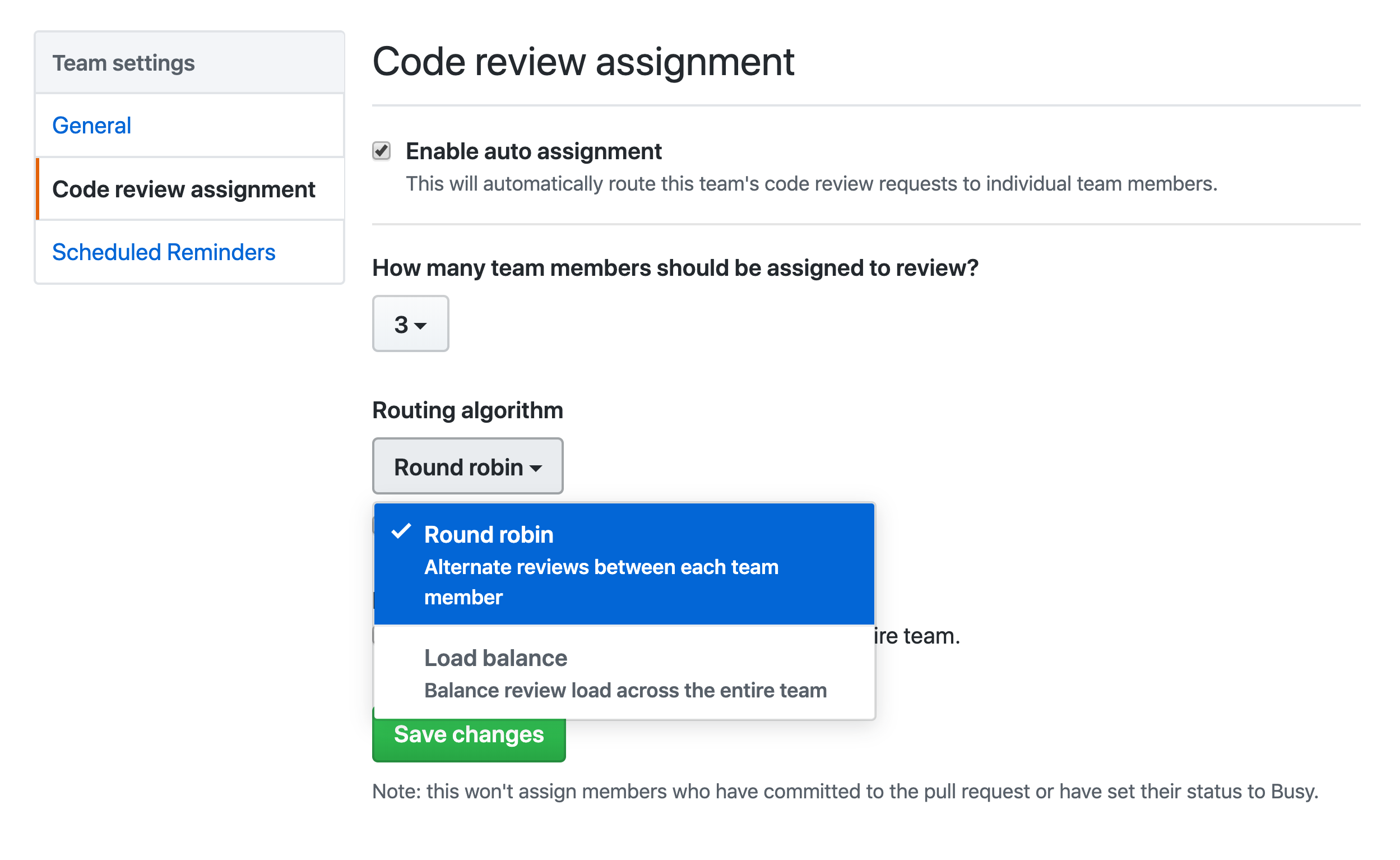 There are two ways to assign code reviews—round robin and load balance—that make sure your team can get through their assignments without getting blocked.