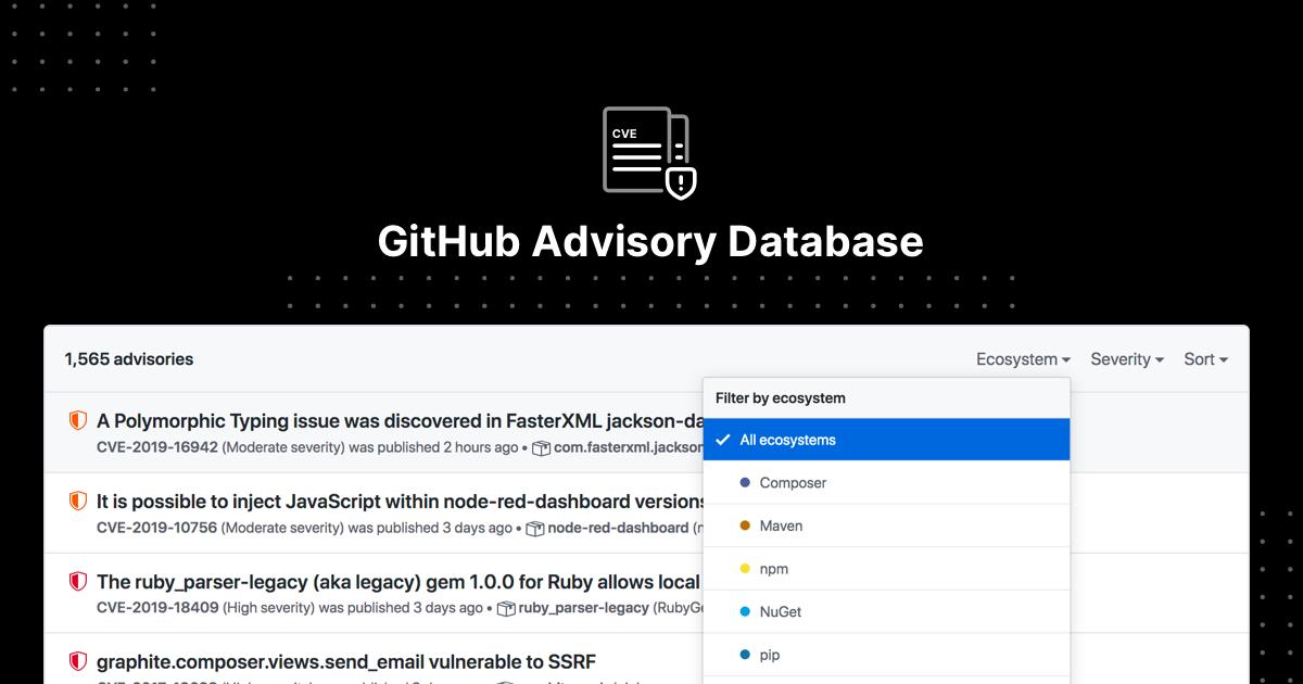 GitHub Advisory Database