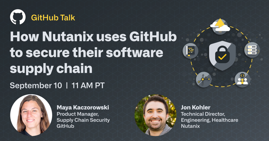 Poster promoting GitHub Security Talk