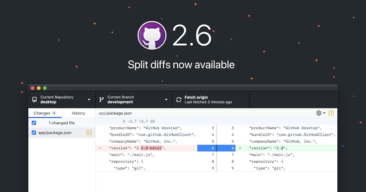 Introducing split diffs in GitHub Desktop - The GitHub Blog