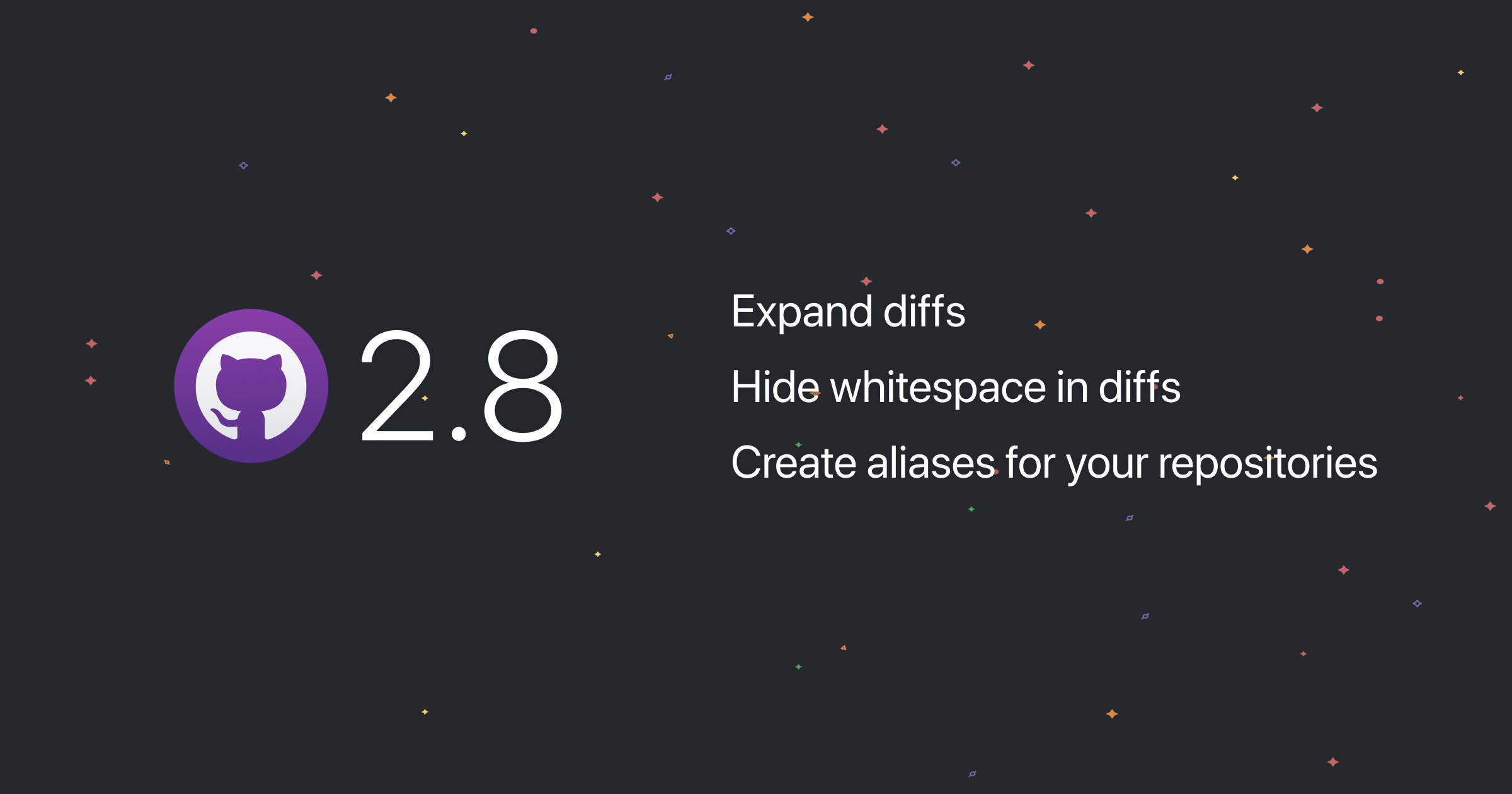 GitHub Desktop Supports Hiding Whitespace, Expanding Diffs, & Creating Repository Aliases