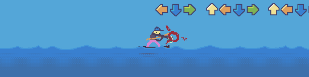 """Screenshot of fish being punched in punching in LD48 entry """"Fishing Trouble"""""""