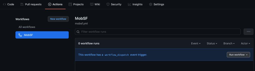 "Screenshot of ""run workflow"" UI"