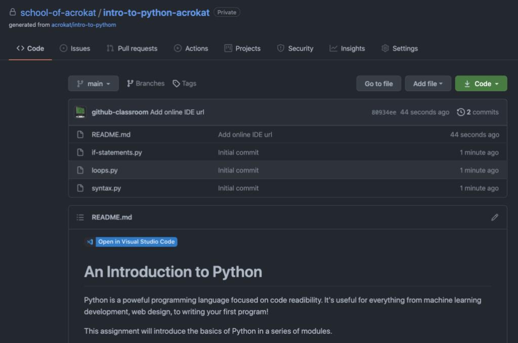 Screenshot showing Visual Studio Code badge