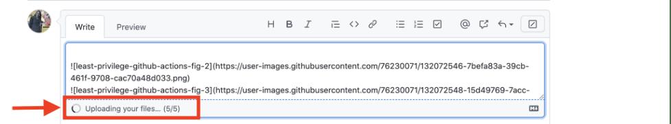 screenshot showing file quantity indicator